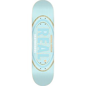 Real Oval Renewal Skateboard Deck LT Blue 8.06