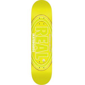 Real Oval Renewal Skateboard Deck Neon Yellow 8.5