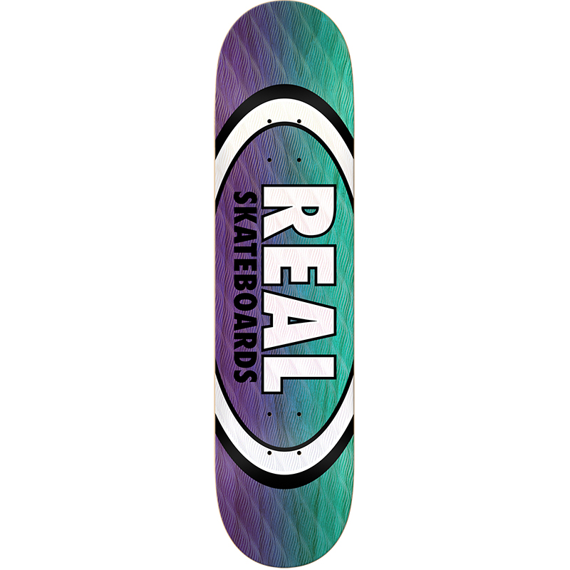 Real Parallel Fade Oval Skateboard Deck 8.12