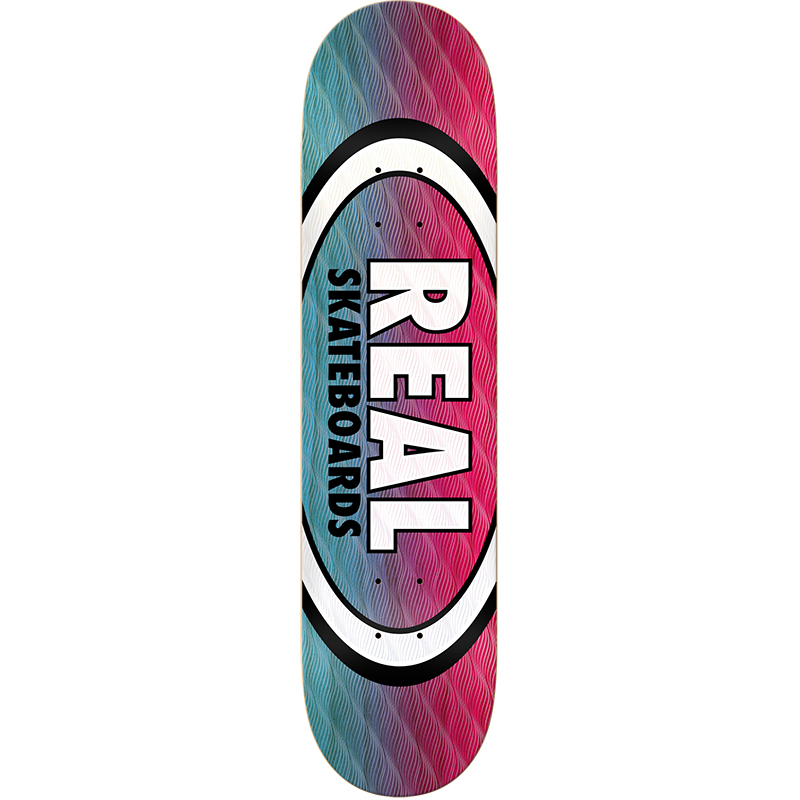 Real Parallel Fade Oval Skateboard Deck 8.25