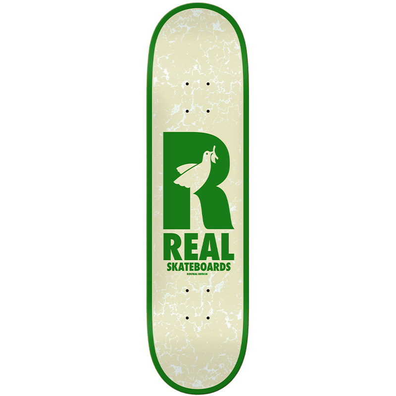 Real Renewal Doves Skateboard Deck Cream 8.5