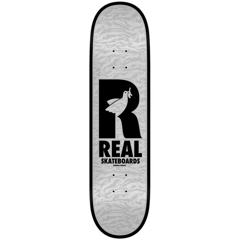 Real Renewal Doves Skateboard Deck Grey 8.25