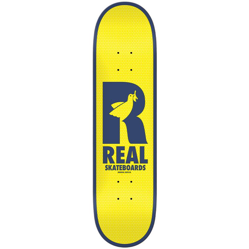 Real Renewal Doves Skateboard Deck Yellow 8.38