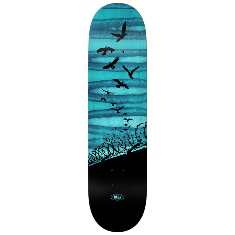 Real Set Free Spectrum Skateboard Deck Blue 8.25