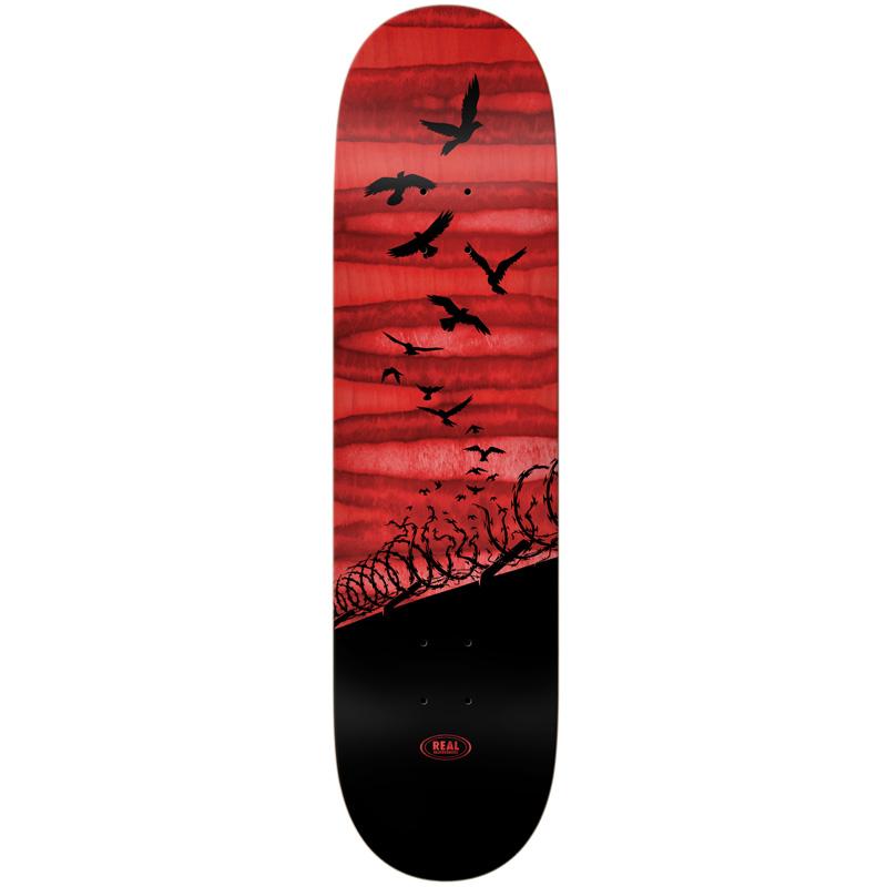 Real Set Free Spectrum Skateboard Deck Red 8.06
