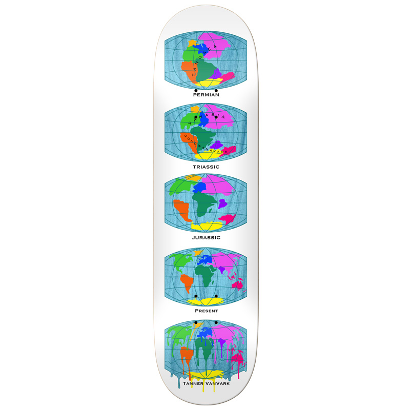 Real Tanner All The Earth Skateboard Deck White 8.38