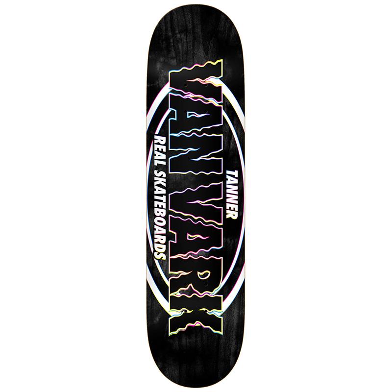 Real Tanner Pro Oval Skateboard Deck Black 8.38