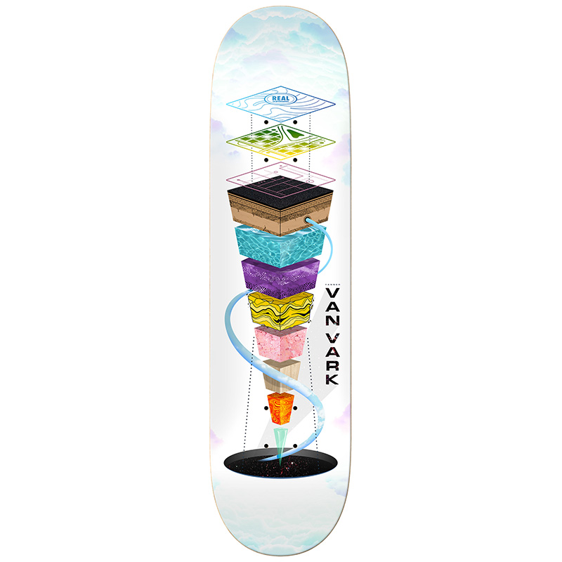Real Tanner Topography Skateboard Deck 8.25
