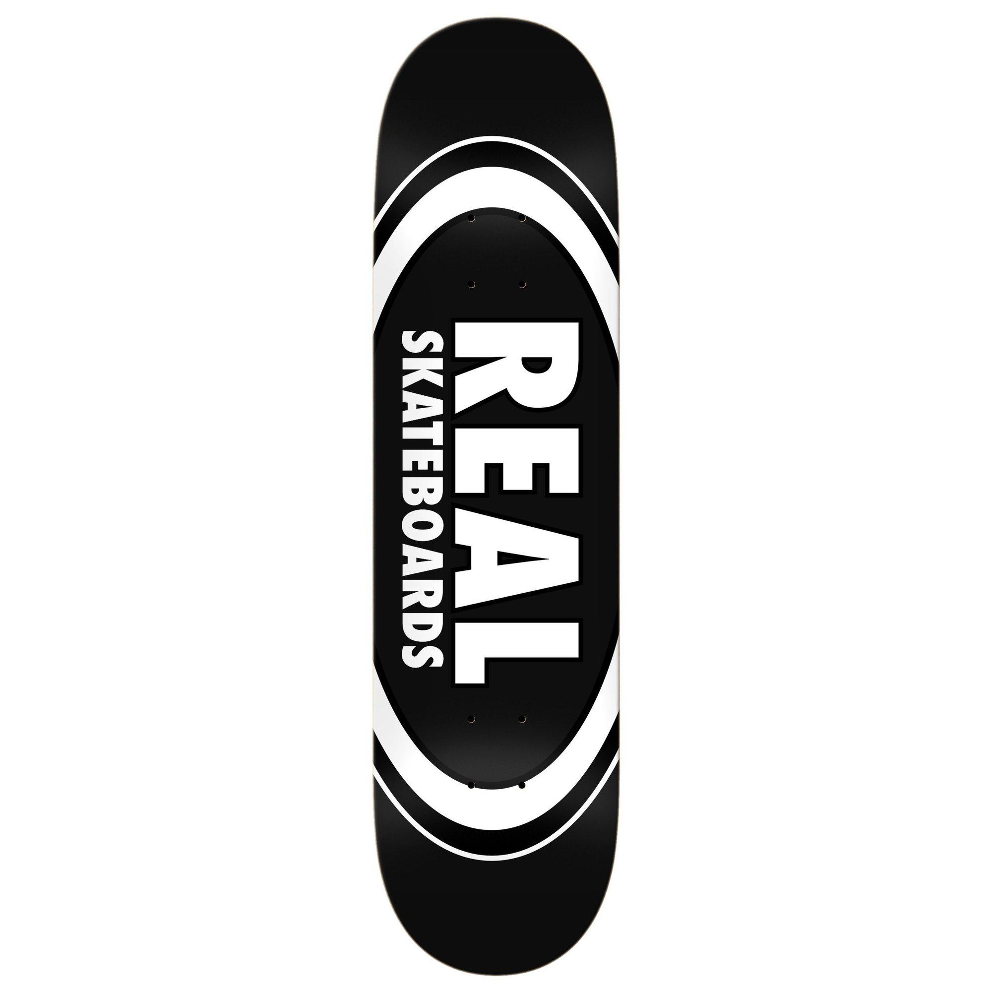 Real Team Classic Oval Skateboard Deck Black 8.25