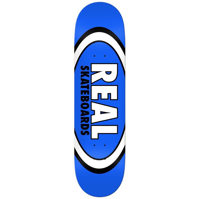 Real Team Classic Oval Skateboard Deck Blue 8.5