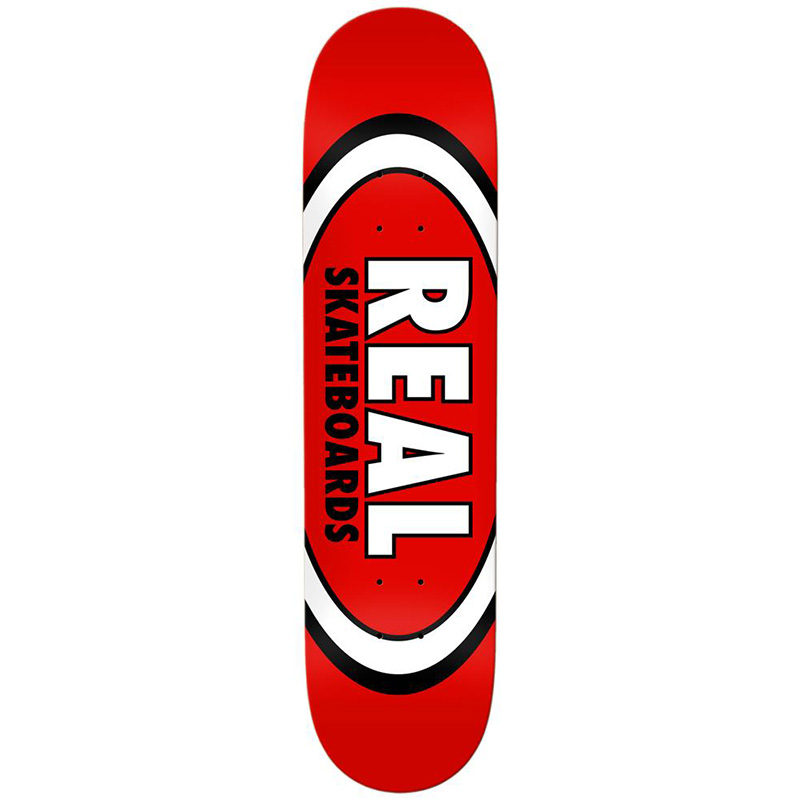 Real Team Classic Oval Skateboard Deck Red 8.12