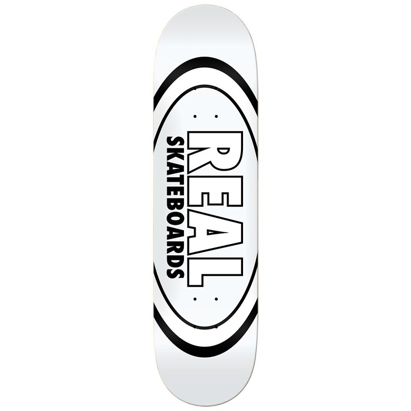 Real Team Classic Oval Skateboard Deck White 8.38