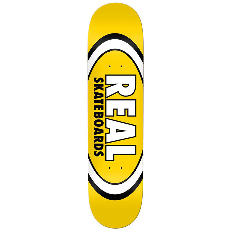 Real Team Classic Oval Skateboard Deck Yellow 8.06