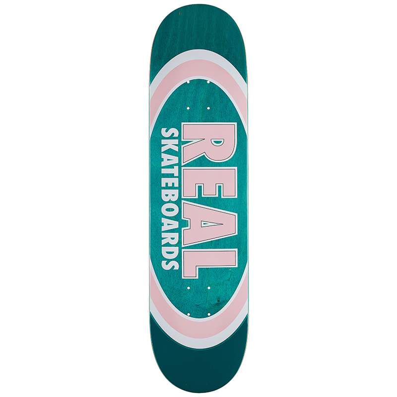 Real Team Dual Oval Skateboard Deck 8.06
