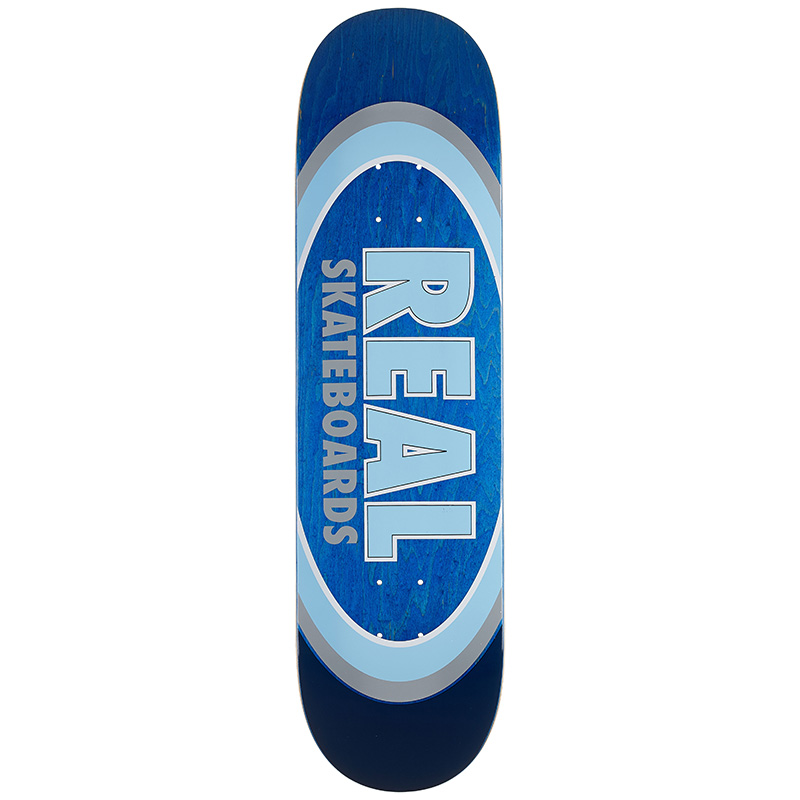 Real Team Dual Oval Skateboard Deck 8.25