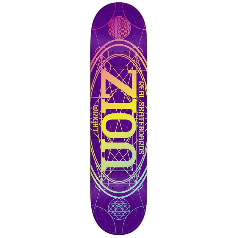 Real Zion Pro Oval Skateboard Deck 8.06