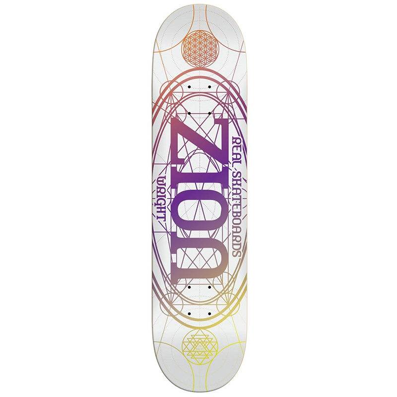 Real Zion Pro Oval Skateboard Deck 8.38