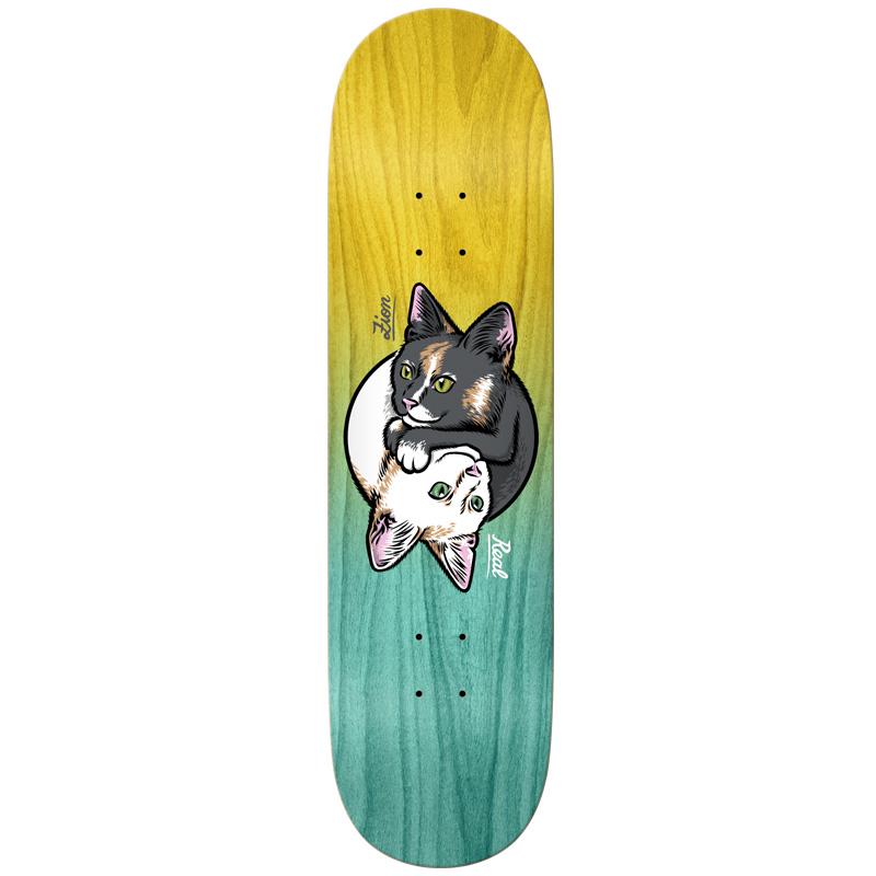 Real Zion Yin Skateboard Deck Yang Kitty 8.25