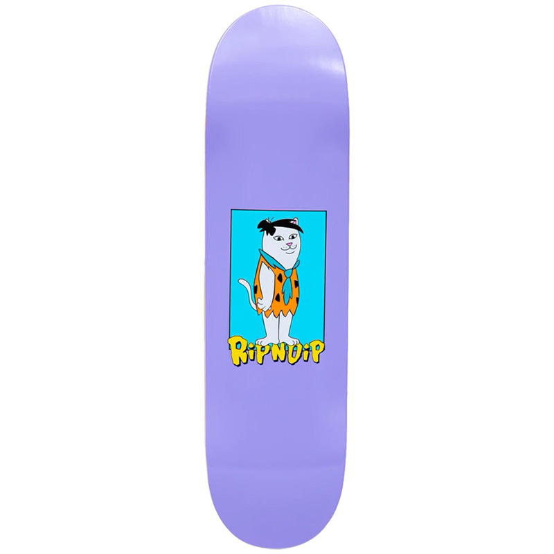RIPNDIP Bedrock Skateboard Deck Purple 8.0