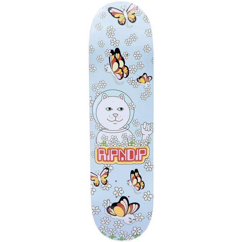 RIPNDIP Butterfly Skateboard Deck Lavender 8.25