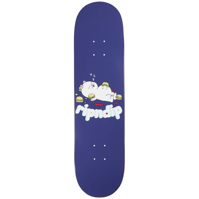 RIPNDIP Fat Hungry Baby Skateboard Deck Purple 8.5