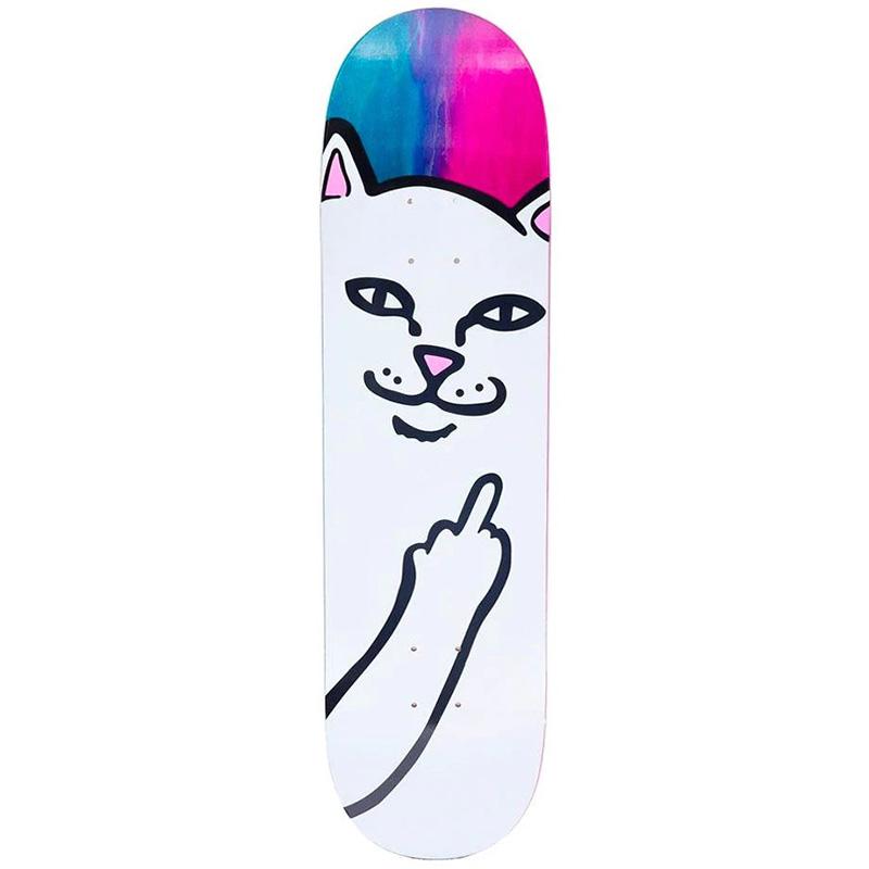 RIPNDIP Lord Nermal Skateboard Deck Purple/Black 8.25
