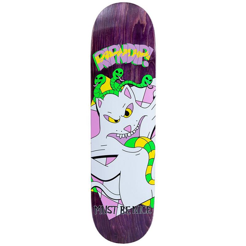 RIPNDIP Topanga Bandit Skateboard Deck Purple 8.0