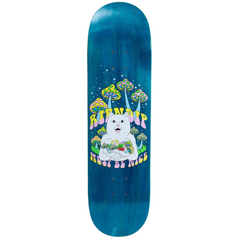 RIPNDIP Trippy Treatz Skateboard Deck Blue 8.5