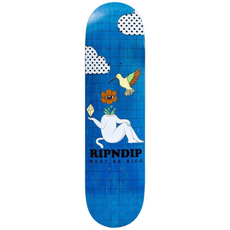 RIPNDIP Window Daze Skateboard Deck Aqua 8.25