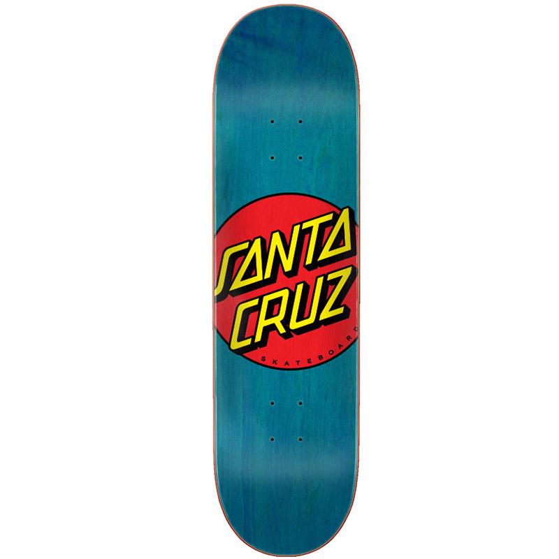 Santa Cruz Classic Dot Skateboard Deck Blue 8.5