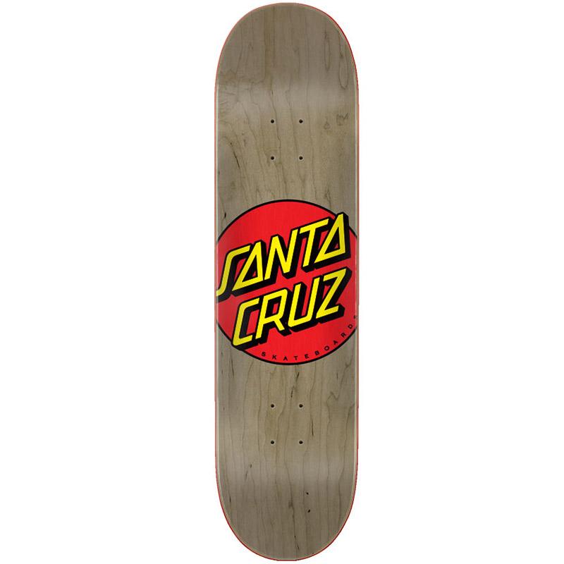 Santa Cruz Classic Dot Skateboard Deck Brown 8.375