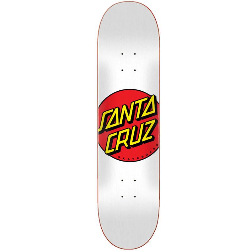 Santa Cruz Classic Dot Skateboard Deck White 8.0