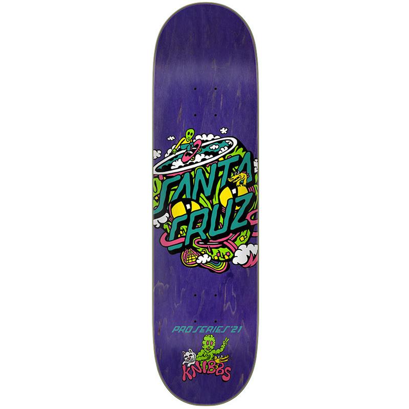 Santa Cruz Knibbs Reptilian Dot Skateboard Deck 8.28
