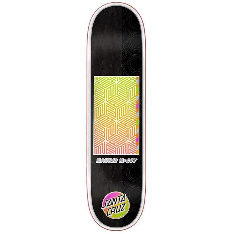 Santa Cruz McCoy Afterglow Skateboard Deck Black/Gold 8.25