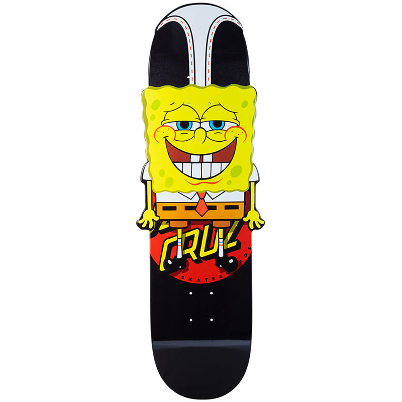 Santa Cruz x SpongeBob Hangin Out Skateboard Deck Black/Yellow 10.2