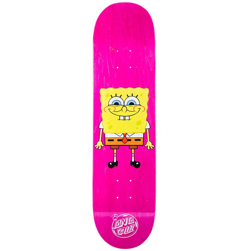 Santa Cruz x SpongeBob SquarePants Skateboard Deck Pink 8.0