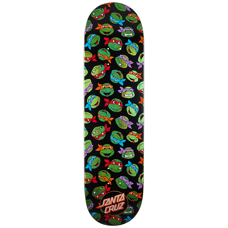 Santa Cruz x TMNT Allover Turtle Skateboard Deck 8.25
