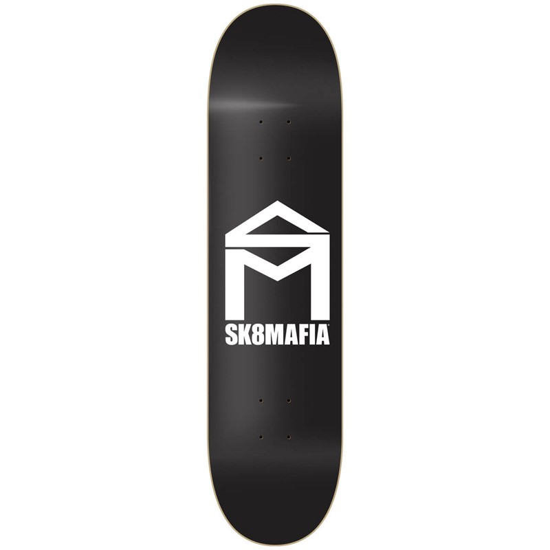 Sk8Mafia House Logo Skateboard Deck Black 8.0