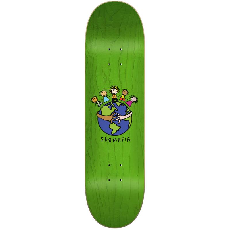 Sk8Mafia World Skateboard Deck 8.25