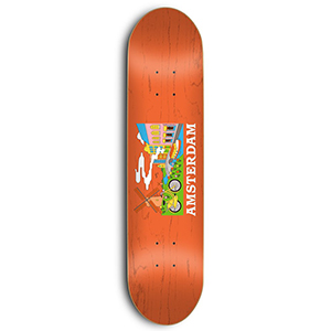 Skate Mental Amsterdam Tourist Skateboard Deck Orange Veneer 8.25
