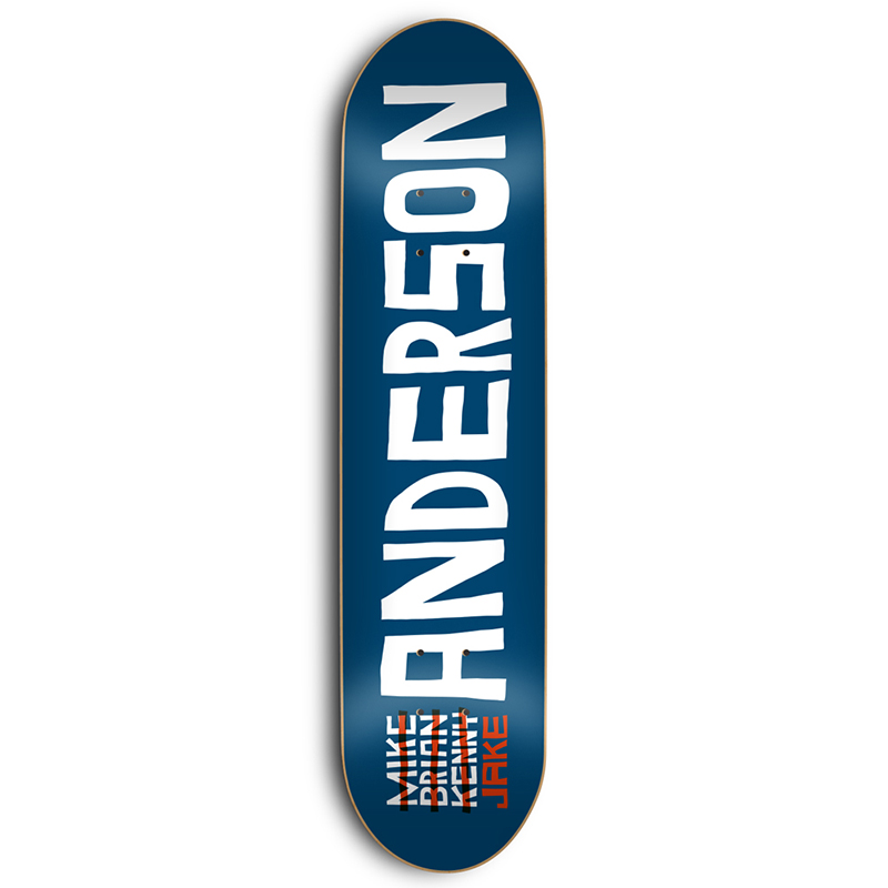 Skate Mental Anderson Name Skateboard Deck 8.5