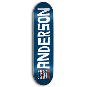 Skate Mental Anderson Name Skateboard Deck 8.5