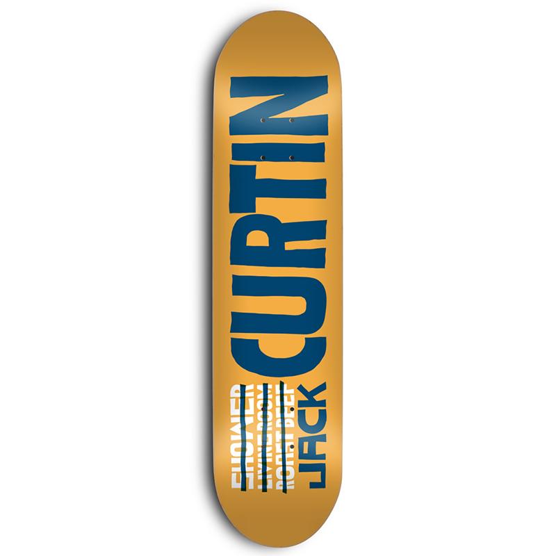 Skate Mental Curtin Name Skateboard Deck 8.25