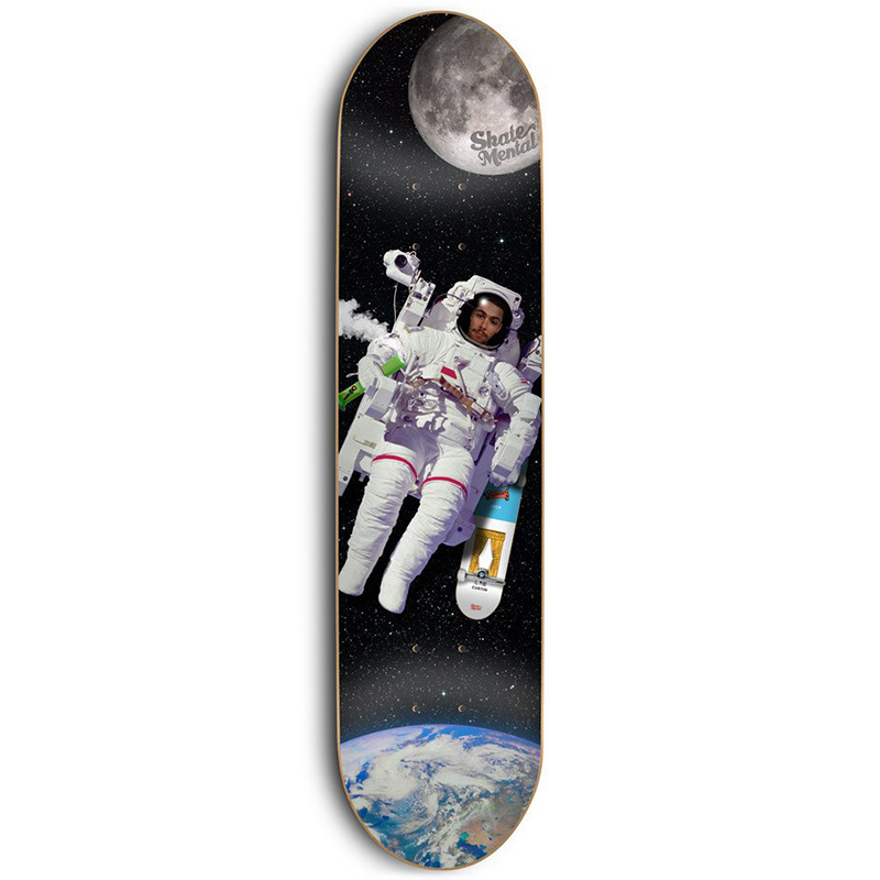Skate Mental Curtin Spaced Out Skateboard Deck 8.0
