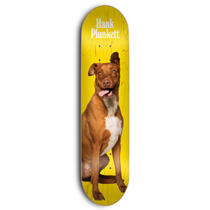 Skate Mental Dan Plunkett Hank Plunkett Skateboard Deck Assorted Veneers 8.25