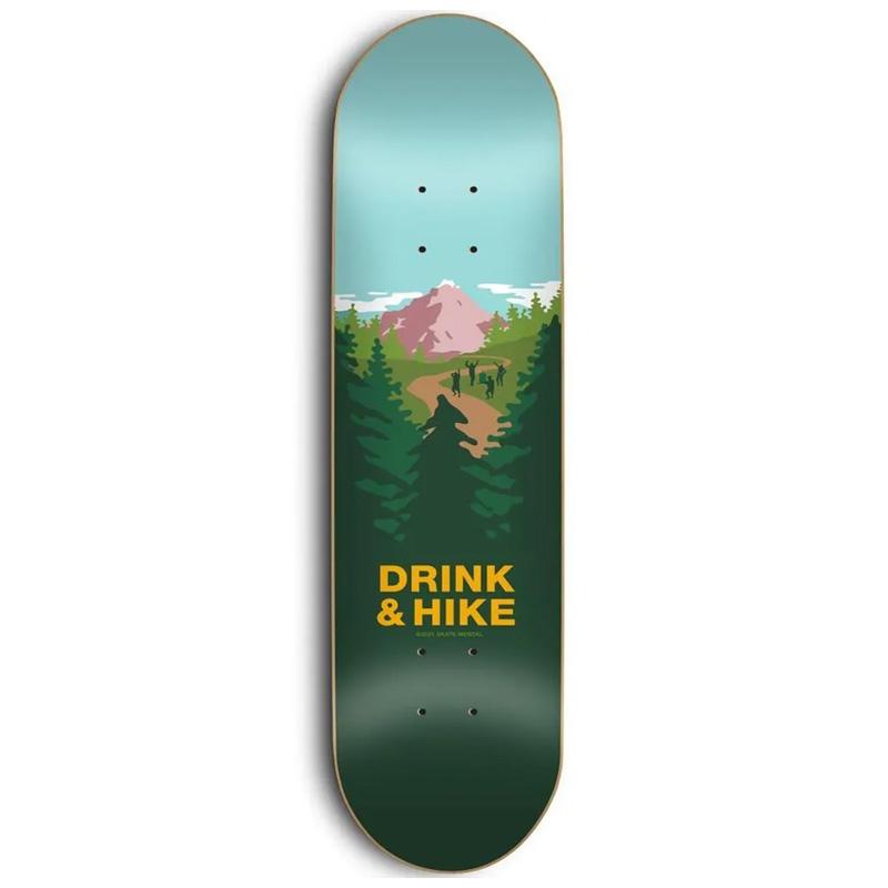 Skate Mental Drink & Hike Skateboard Deck 8.38