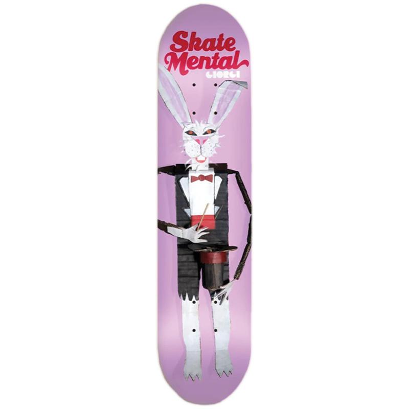 Skate Mental Giorgi Rabbit Doll Pink Skateboard Deck 8.25