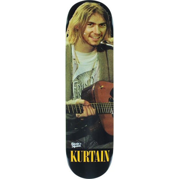 Skate Mental Jack Curtin Kurt Kurtain Skateboard Deck 8.0
