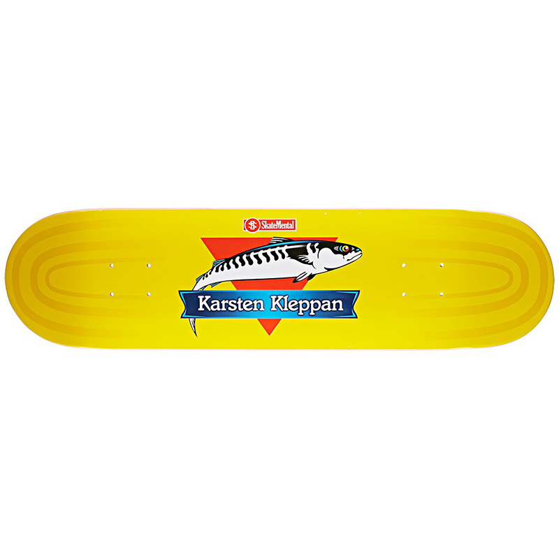 Skate Mental Karsten Kleppan Canned Fish Skateboard Deck 8.06