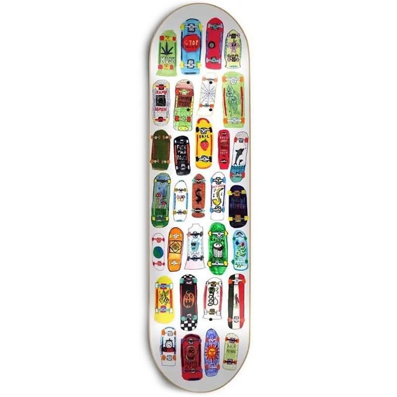 Skate Mental Koston Board Collage Skateboard Deck 8.25